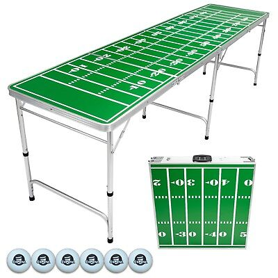 Football Field Beer Pong Table 8 Foot Portable GoPong -