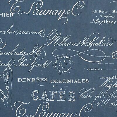FRENCH CAFE Fabric curtain Upholstery material 2.8m  Piece 100%cotton