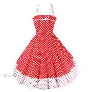 Kleid Rot Weiß