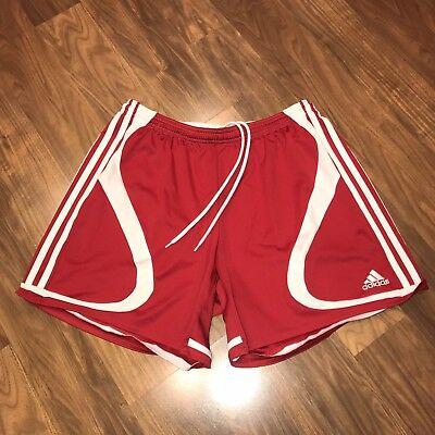 Vtg 90s Red ADIDAS Predator Mens LARGE Polyester Soccer Jersey CLIMALITE Shorts (Adidas Predator Climalite Short)