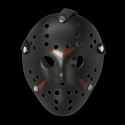 Erwachsene Schwarz Jason Voorhees Style Hacker Horror Hockey Gesichtsmasken ()