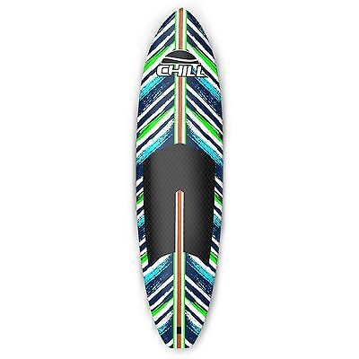 Chill Nalu 8' Stand-Up Paddle Board Package Blue/Green