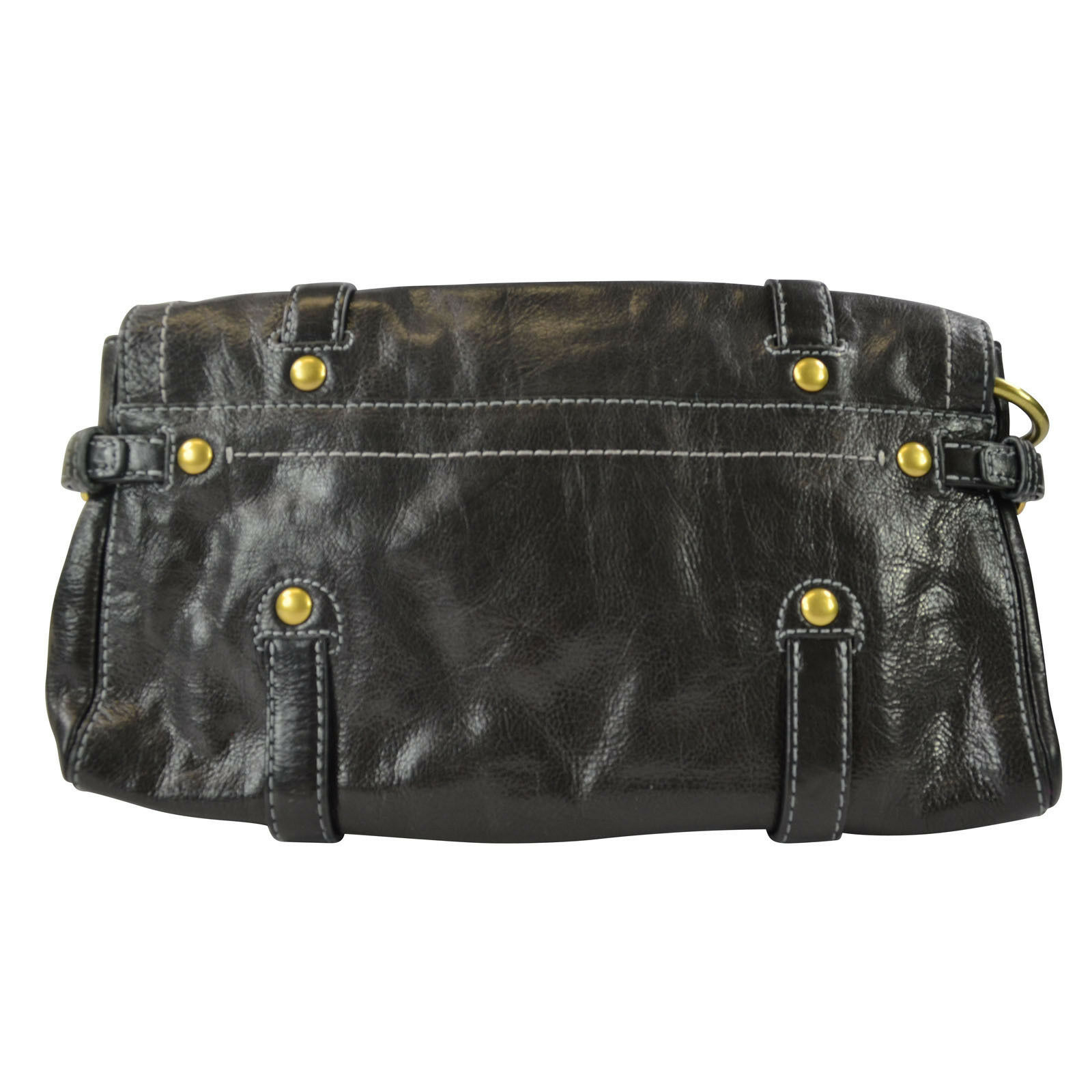 aca1213852d Details about Coach Legacy Leather Garcia Oversize Clutch Bag in Black $298+