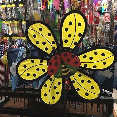 Yellow Flower w/Ladybug Wind Spinner ](Flower Wind Spinner)