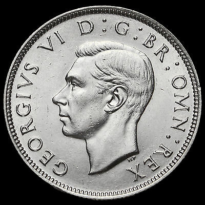 1946 George VI Silver Two Shilling Coin / Florin, EF