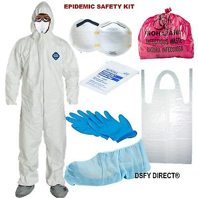 Safety Hazmat Suit Bug Out Paintepidemic Disasters Survival Protection Kit