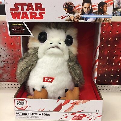 New Porg Star Wars The Last Jedi Talking Moving Life Size 11  In Plush Last Ones