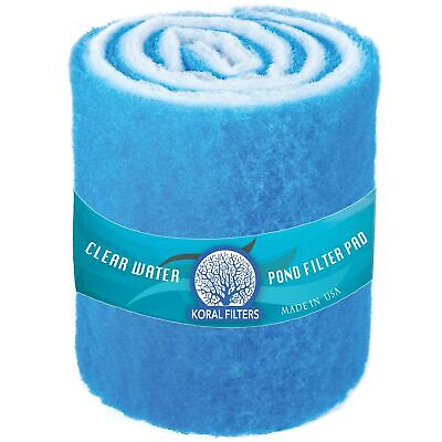 Koral Filters PRO Koi Pond Filter Pad Media Roll - Blue Bonded - 12 Inches by...