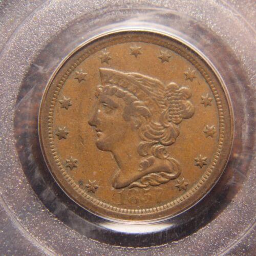 1857 Braided Hair Half Cent, C-1, PCGS XF-40