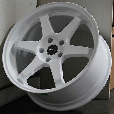 18x9.5 White Wheels Vors TR37 5x114.3 35 (Set of 4)