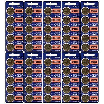 50 Pack Sony CR2032 3V Lithium Coin Batteries FRESHLY NEW USA Seller Expire 2027
