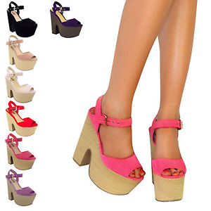LADIES-WOMENS-PLATFORM-HIGH-HEELS-PEEP-TOE-STRAPPY-CHUNKY-DEMI-WEDGES-SHOES-SIZE