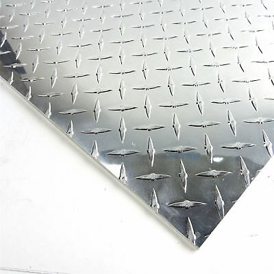 .1875 Aluminum Diamond Tread 3003 H-24 Plate 11 Wide 31.5 Long Sku122971