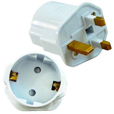 2 X Reisestecker Adapter Deutschland EURO EU Schuko auf UK GB England Stecker - Reise-adapter