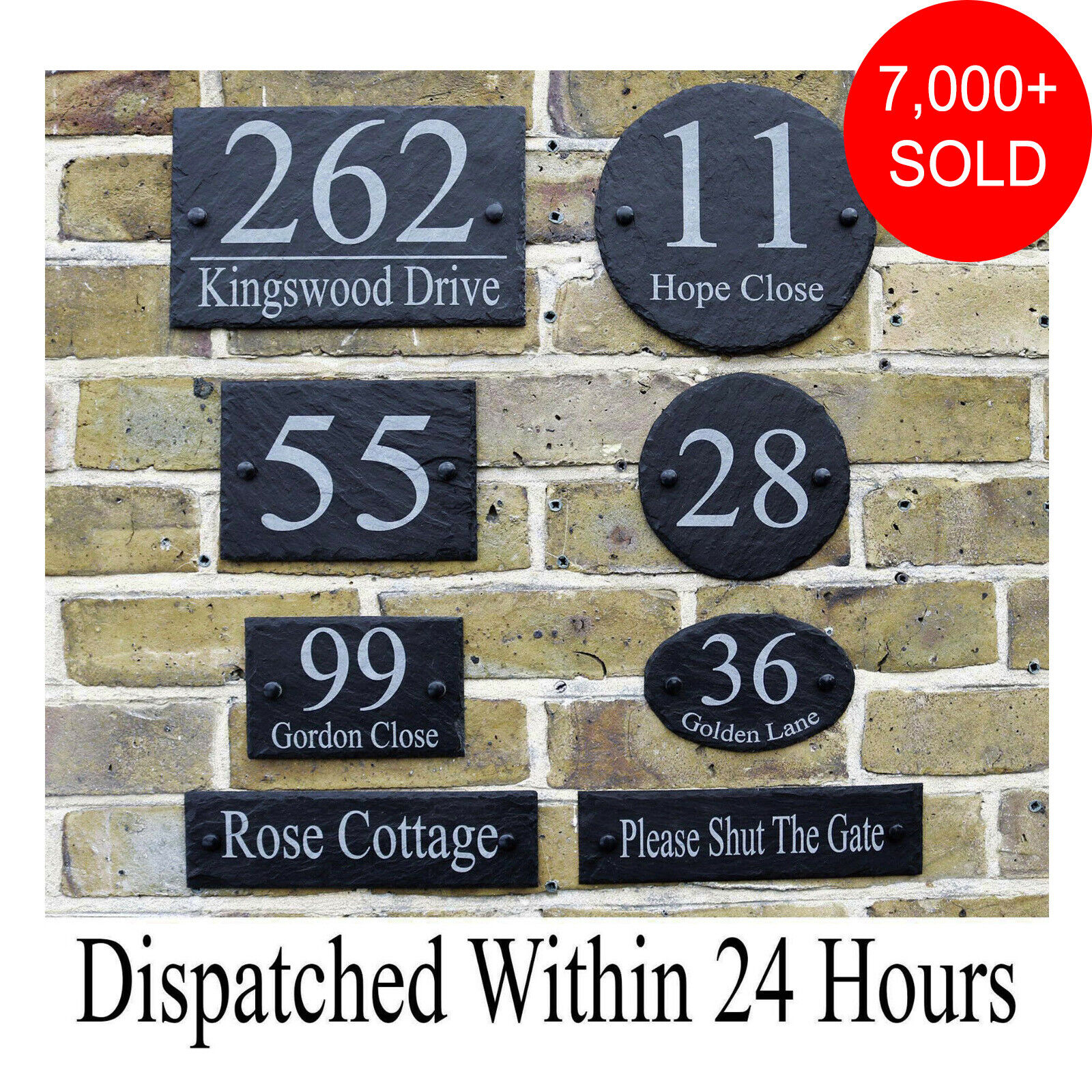 gate plates Slate House Signs notices made Any numbers Door plaques names