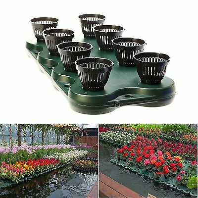 8Plugs /1pc Aquaponics Floating Pond Planter Pots Kit- Hydroponic Island Gardens