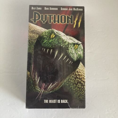 PYTHON 2 VHS 2002 HORROR SCREENER NEW SEALED William Zabka Dana Ashbrook HTF - $22.90