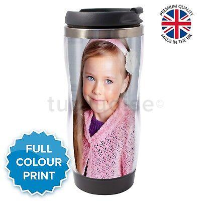 Personalised Custom Photo Gift Thermal Mug Coffee Tea Travel Flask Cup - Personalized Photo Travel Mugs