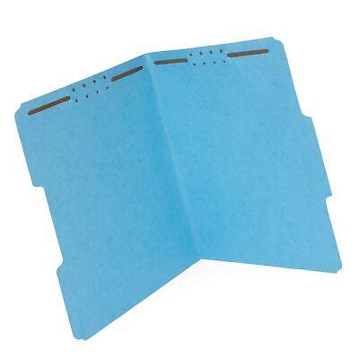 50 Fastener File Folders- 13 Cut Reinforced Tab- Durable 2 Prongs Designed T...