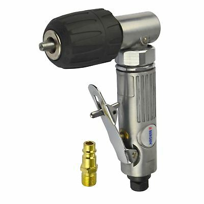 38 10mm Keyless Chuck Air Angle Drill Right Angled Drilling Tool 14 Bsp