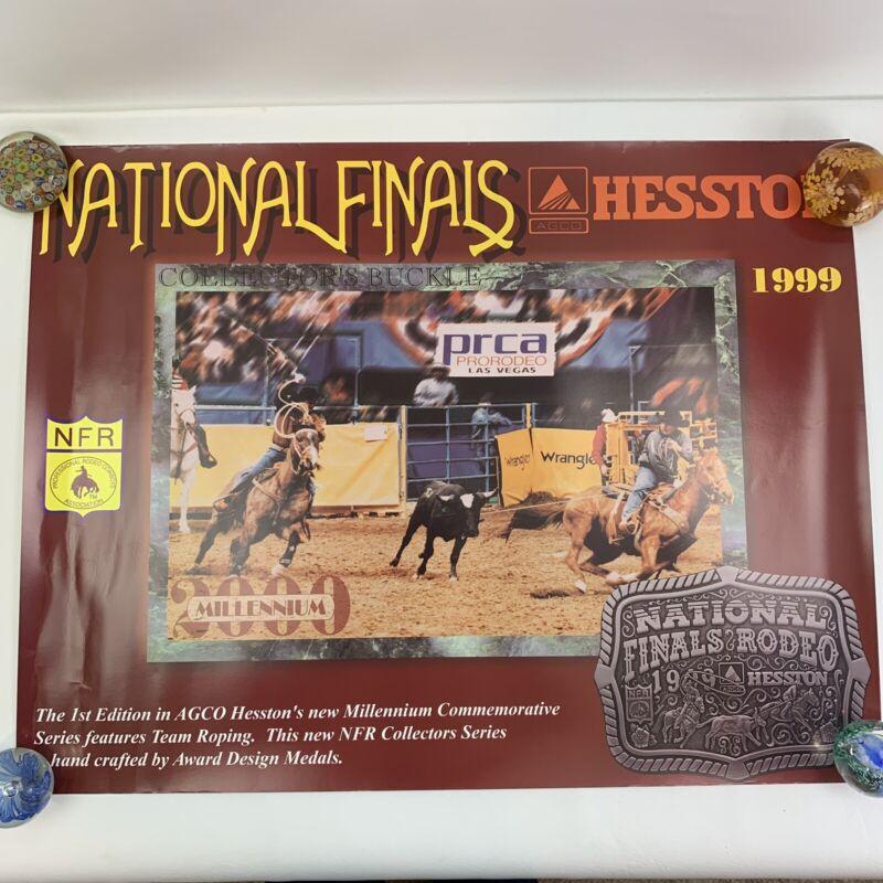 "Vtg 1999 NFR National Finals Rodeo Las Vegas PRCA Hesston 26x20"" VGC"