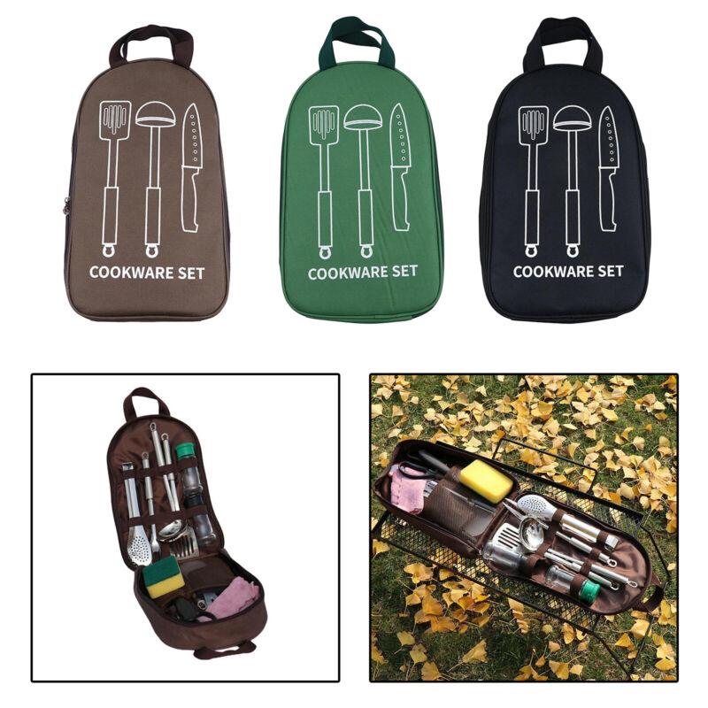 Camping Utensil Organizer Cookware Storage Bag Case Knife Holder Accessories