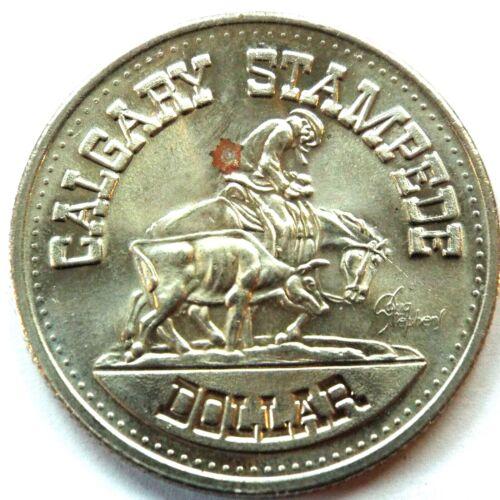 Vintage 1975 Calgary Stampede/Fort Centennial $1 Dollar Trade Token CANADA