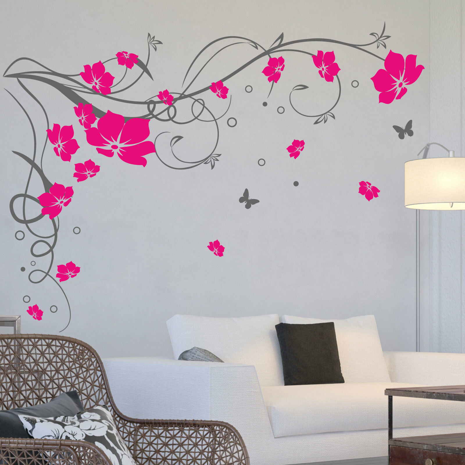 pics photos large butterfly vine flower wall sticker modern wall stickers hds18 large butterfly wall decals