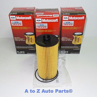 2003-2010 Ford Super Duty 6.0,6.4 Turbo Diesel Engine Oil Filter (Set of 3), OEM