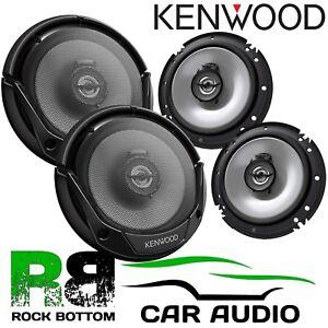 KENWOOD PEUGEOT 207 2 Way 1200 Watts Car Front & Rear Door Speakers & Connectors