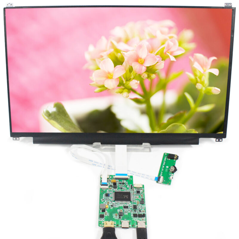 HD MI Type C LCD Controller Board With 13.3 in N133HSE 1920X1080 IPS LCD Screen