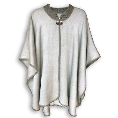 Alpaca Baby Blanket (FINE BABY ALPACA WOOL OPEN CAPE PONCHO BOHO BLANKET WRAP SHAWL BOHEMIAN)