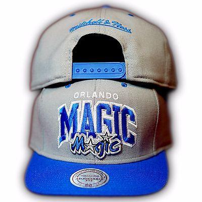 Original Mitchell & Ness Orlando Magic NBA Snapback Cap EU131 Grau/Royal Orlando Magic Snap