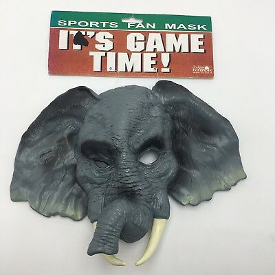 Elephant Sports Fan Face Mask Game Day Alabama Oakland Halloween Costume Play - Halloween Sports Fan