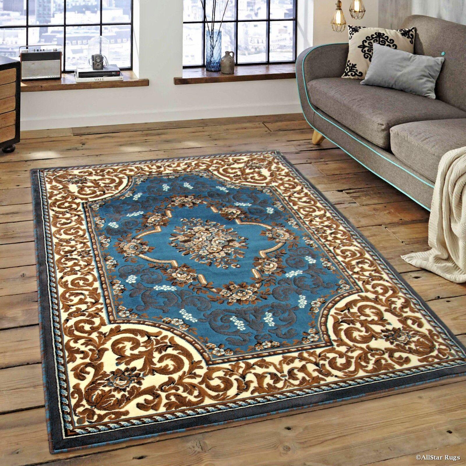 RUGS AREA RUGS CARPET 8x10 ORIENTAL LIVING ROOM FLOOR LARGE FLORAL BIG BLUE RUGS