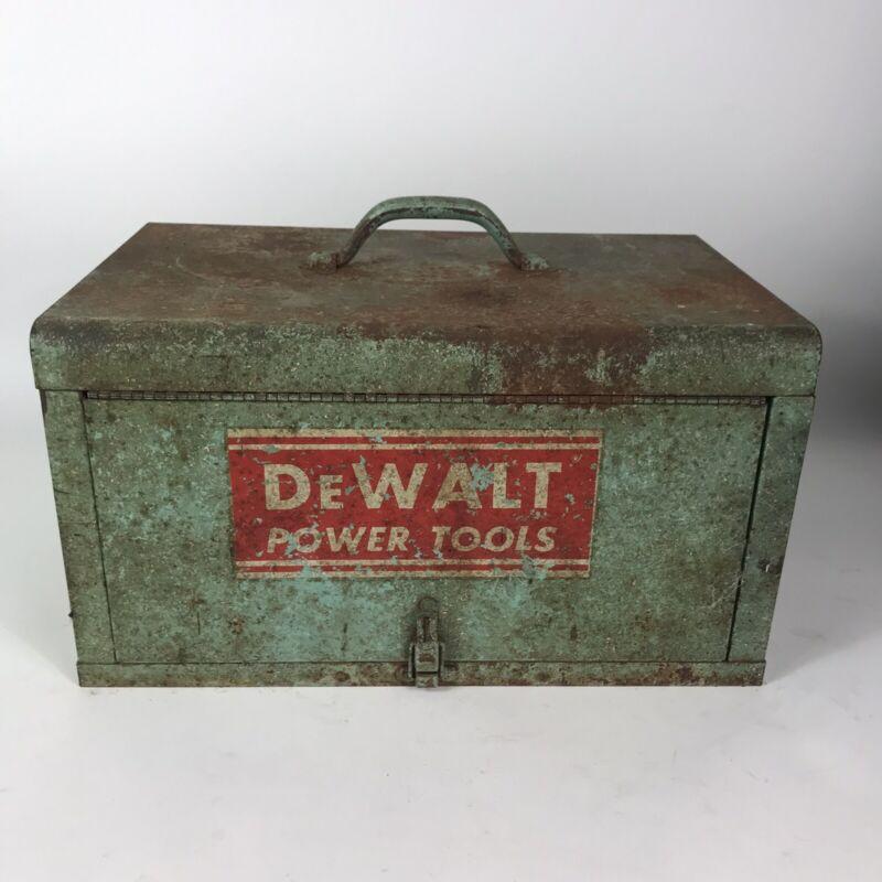 "Vintage DEWALT Tool Box 18""x11.5""x10"" With Accessories Original Case Saw Drill"