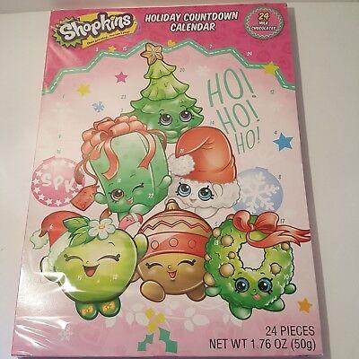 Shopkins Advent Holiday Countdown Calendar Christmas with 24 Milk Chocolates