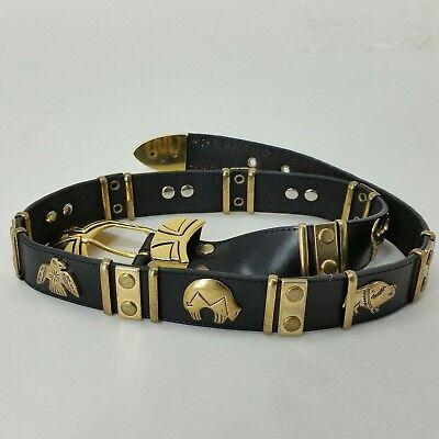 9c90d143cce VINTAGE DONNA KATZ BLACK LEATHER GOLD BELT AZTEC ANIMALS SOUTHWESTERN DESIGN