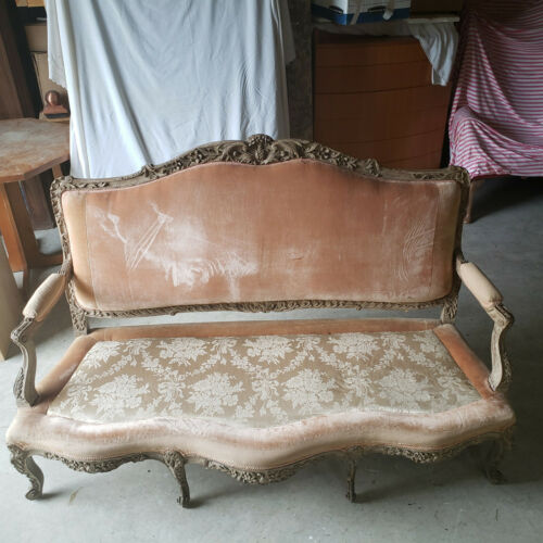 Vintage French Loveseat/ Sofa