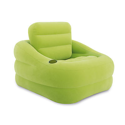 Intex Inflatable Indoor or Outdoor Accent Chair with Cup Hol