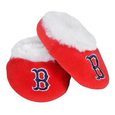 Boston Red Sox Baby Bootie Slippers Infant Children Kids Baby Shower MLB Boston Red Sox Mlb Slippers
