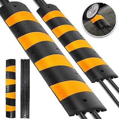 2pcs Modular Rubber Speed Bumps Electric Traffic Control Parking Lot Warehouse
