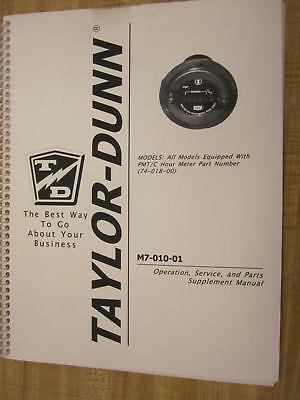 Taylor Dunn M7-010-01 Supplement Manual M701001