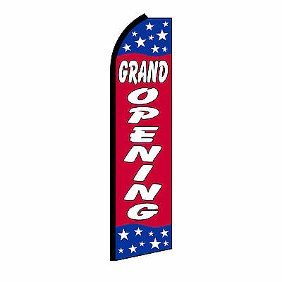 Grand Opening Stars Swooper Flag