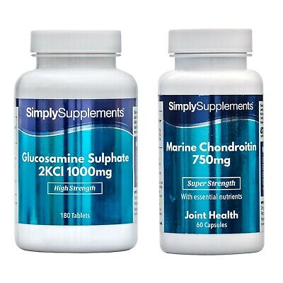 Glucosamine1000mg 360 Tablets & Marine Chondroitin750mg*60 Capsules*BUNDLE DEAL - Marin 60 Tablets
