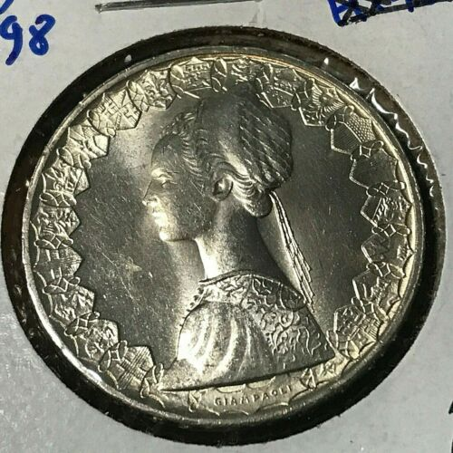 1958 ITALY SILVER 500 LIRE BRILLIANT UNCIRCULATED