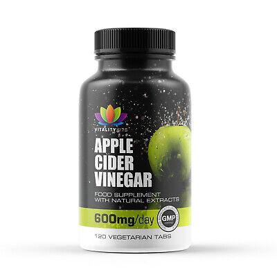 Apple Cider Vinegar 120 Tablets 600mg - Weight Loss - Mother - Detox - UK Made