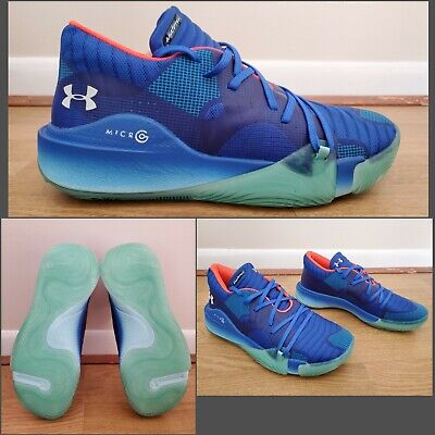 Under Armour Anatomix Spawn Low Shoes Blue Glow 3022384-400 Mens Size 10.5