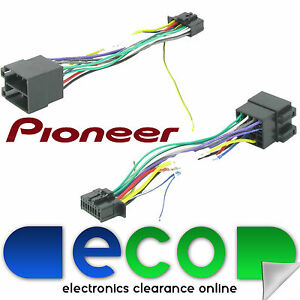 pioneer 16 pin to iso 2010 onwards car stereo radio replacement wiring harness ebay