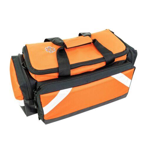 LINE2design Elite Trauma Bag - EMS EMT Paramedic with Reflective Trim - Orange